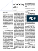 1990 Issue 3 - The Christian's Calling From God - Counsel of Chalcedon