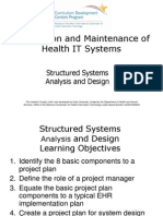 08- Installation and Maintenance of Health IT Systems- Unit 4- Structured Systems Analysis and Design