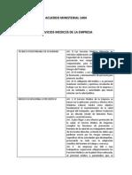 Acuerdo Ministerial 1404 Servicios Medicos