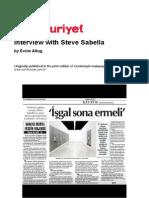 Steve Sabella Interview with  Evrim Altug