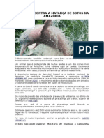 Campanha Contra a Matança de Botos Na Amazônia