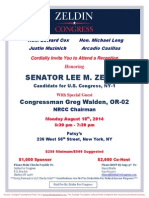 Reception for Lee Zeldin
