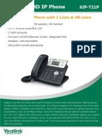 Yealink-T21P-Datasheet.pdf