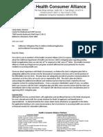 HCA Letter Re DHCS Mitigation Plan
