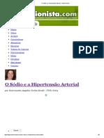 O Sódio e a Hipertensão Arterial - Nutricionista
