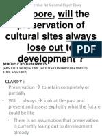 Cultural Sites vs Development