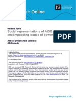 Social Representations of AIDS-Towards Encompassing Issues of Power %28LSERO%29