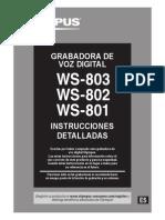 WS-803 WS-802 WS-801 Instrucciones Detalladas ES