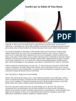 Tre Sorprendenti Benefici per la Salute di Vino Rosso