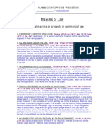 10 Maxims of Law