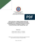 """Aplicación de La Norma Internacional Nº 34 """"Información"""