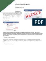 Les logiciels de piratage de mot de passe