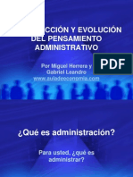 AG01-INTRODUCCIÓN Y EVOLUCIÓN DEL PENSAMIENTO ADMINISTRATIVO.ppt