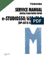 Toshiba e-Studio 550 Service Manual