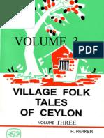 Village Folk Tales of Ceylon -Volume 3  - by   Parker