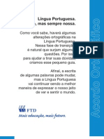 Acordo Ortográfico da Língua Portuguesa - FTD