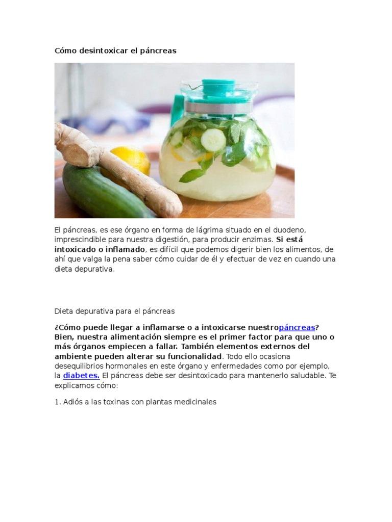 Dieta para un pancreas inflamado