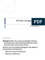 Etiologi Gangguan Jiwa