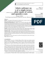 Effect of Fabric Softener