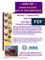 2014 Eangus Junior Enlisted Night at the Hard Rock Cafe