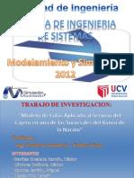 Modelamiento y Simulación (Sucursal Banco de La Nacion)