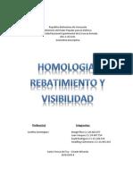 Homologia, Rebatimiento y Visibilidad
