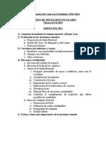 Conformación Del Centro de Estudiantes 2013