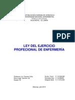 Ley Del Ejercico Profesional de Enfermeria
