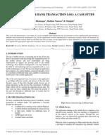 Secure Multiple Bank Transaction Log a Case Study