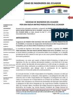 2. La SIDE y La Nueva Matriz Productiva en El Ecuador
