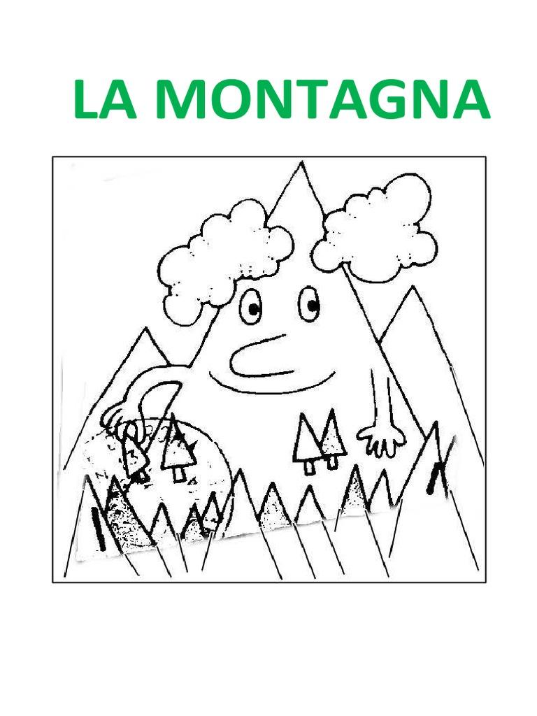 la montagna disegni da colorare