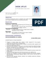 Awan's CV(03 June 2009)