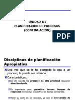 Unidad III Planificacion de Procesos (Continuacion)