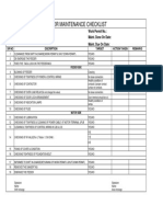 Checklist for Motor
