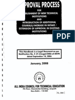 Aicte Approval Process 2008