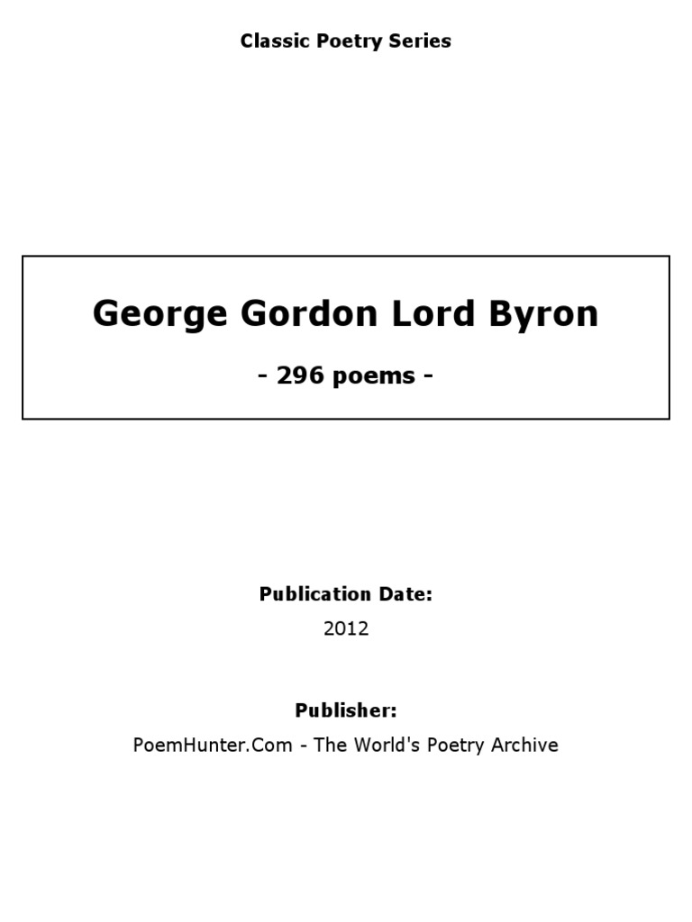George Gordon Lord Byron 2012 6 Poetry Swag Lamp Wiring Kit From Lee Valley Tools And Voila Cool Lampand