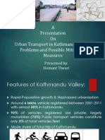 Urban Transport in Kathmandu Valley