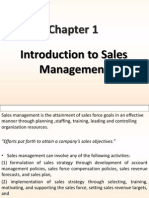Introduction to Sales Management Chapter-1