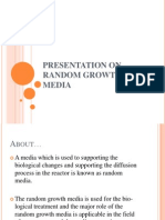 Presentation on Random Growth Media