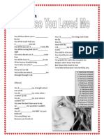 Because You Loved Me- Song