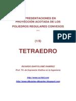 POLIEDROS EN PROYECCIÓN ACOTADA- (1/5) TETRAEDRO