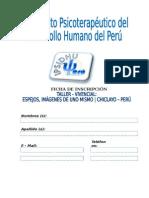 Ficha de Inscripcion_ipsidhu - Taller Vivencial