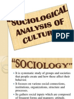 Sociological Analysis of Culture