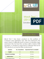 Mock Test 1 Detailed Analysis