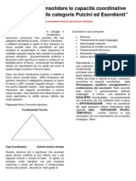 Sviluppare e Consolidare Le Capacità Coordinative Del Calciatore Nelle Categorie Pulcini Ed Esordienti