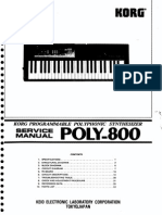Korg Poly800 Service Manual