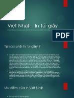 Việt Nhật – in Túi Giấy Giá Rẻ Chất Lượng Uy Tín Tại Việt Nam