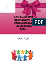TAU is listed in Association of Commonwealth Universities (ACU)