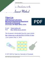 FEM Lecture Notes Liu UC