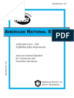 American National Standard for Scaffolds